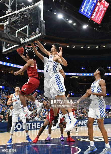 Alabama forward Braxton Key puts up a shot in the second half during a Southeastern Conference Basketball Tournament game between the Kentucky...