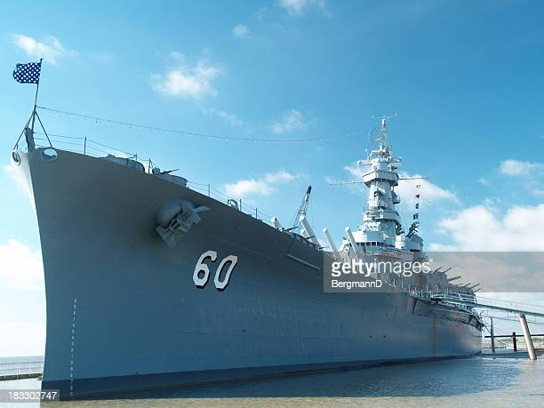 uss alabama from port - navy ship stock pictures, royalty-free photos & images
