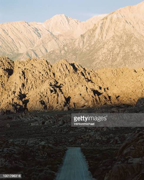 alabama hills at sunrise, california, america, usa - hill range stock pictures, royalty-free photos & images