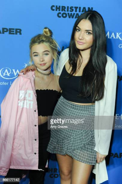 Alabama Luella Barker and Atiana De La Hoya attend the PAPER Magazine Runway Benefit For MakeAWish Foundation at The Taglyan Complex on October 24...