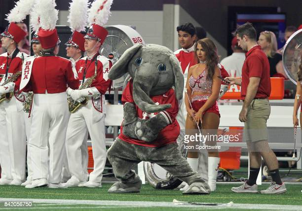 Alabama mascot Big Al performs during the ChickfilA Kickoff Classic between the Alabama Crimson Tide and the Florida State Seminoles on September 02...