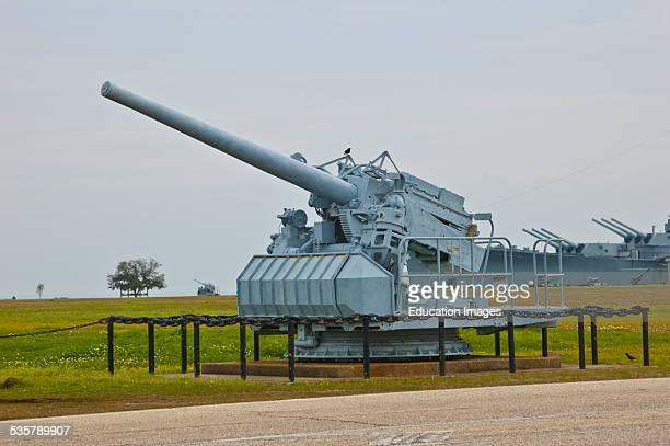 Alabama Mobile Battleship Memorial Park US 155mm Artillery Field Piece