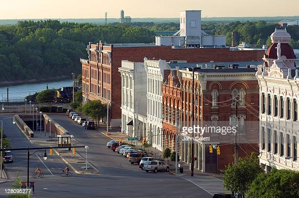 alabama, montgomery, lower commerce st. historic district - montgomery alabama stock pictures, royalty-free photos & images
