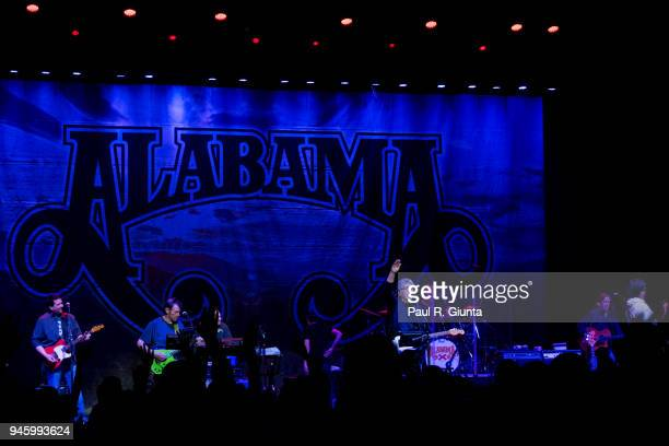 Alabama performs on stage at The Fox Theatre on April 13 2018 in Atlanta Georgia