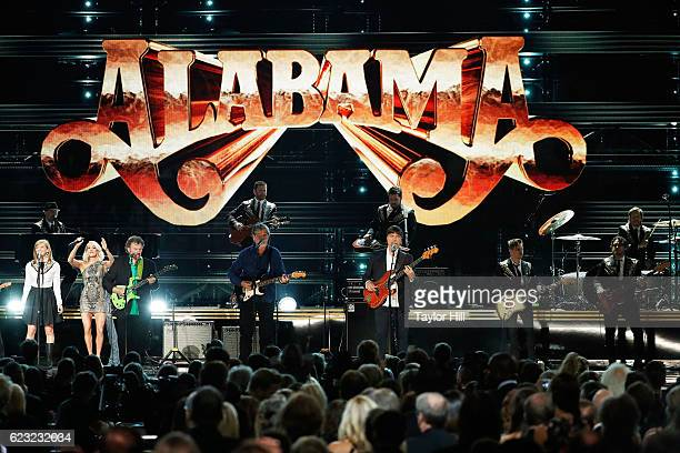 Alabama performs onstage during the 50th annual CMA Awards at the Bridgestone Arena on November 2 2016 in Nashville Tennessee
