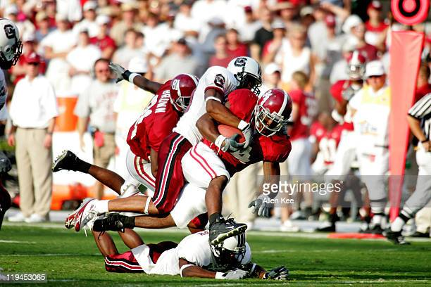 Alabama running back Kenneth Darby in action against South Carolina at WilliamsBrice Stadium in Columbia South Carolina on September 17 2005 Alabama...