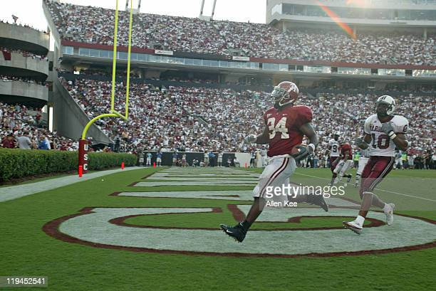 Alabama running back Kenneth Darby scores a touchdown in the third quarter against South Carolina at WilliamsBrice Stadium in Columbia South Carolina...