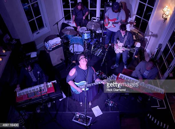 Alabama Shakes performs during the MusiCares House Concert Hosted by Pete Fisher featuring Alabama Shakes on September 25 2014 in Brentwood Tennessee