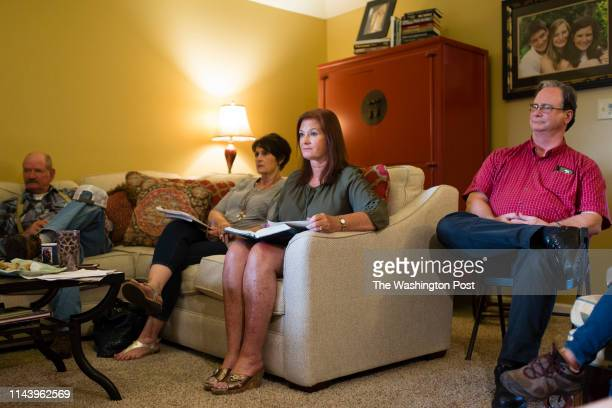DECATUR AL MAY 13 Alabama state Rep Terri Collins leads a Bible study class in her home on Monday May 13 2019 in Decatur AL