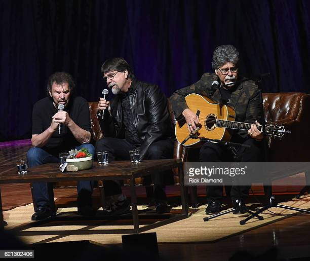 Alabama's Jeff Cook Teddy Gentry and Randy Owen perform during The Country Music Hall of Fame and Museum Presents an Interview with Alabama at The...