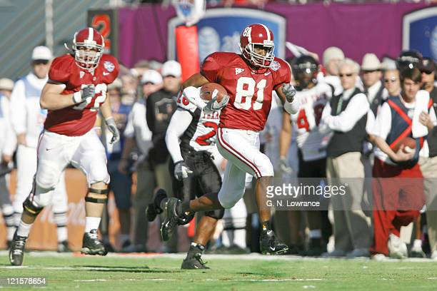 Alabama's Keith Brown during a victory over the Texas Tech Red Raiders at the AT & T Cotton Bowl in Dallas, Texas on January 2, 2006.