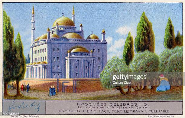 Alabaster Nosque / Mosque of Muhammad Ali Pasha Cairo Egypt Famous mosques Liebig collectors' card 1931