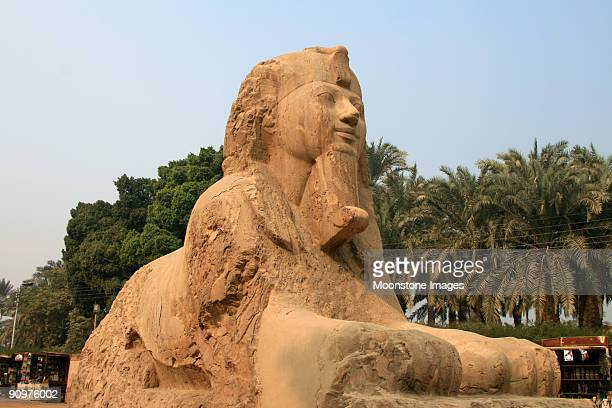 Alabaster Sphinx in Memphis, Egypt
