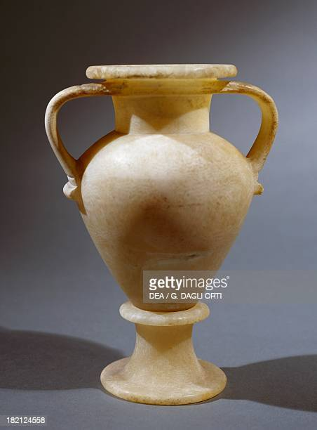 Alabaster vase from a Theban tomb Egyptian Civilisation Florence Museo Archeologico Nazionale Museo Egizio