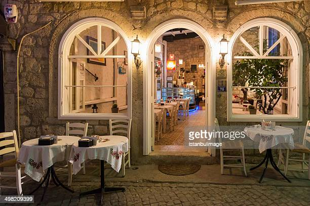 Alacati restaurant in night