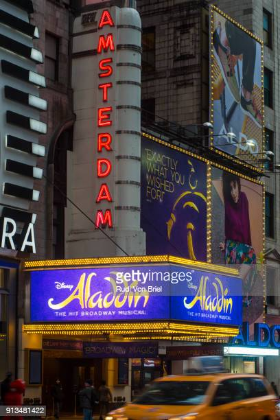 Aladdin Musical on 42nd Street, NYC.