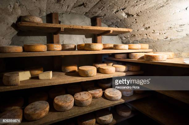 Alagna Val Sesia cheese aging room