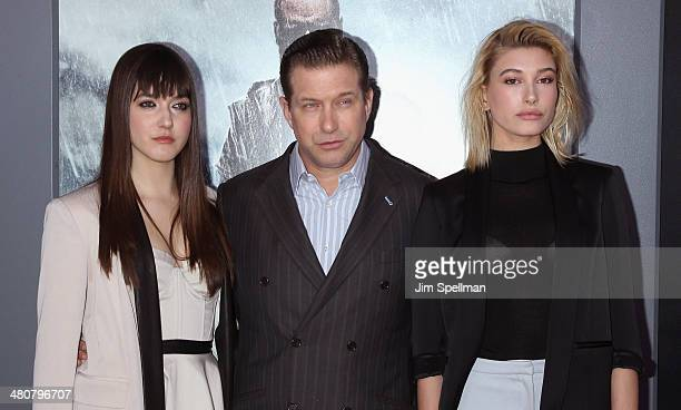 Alaia Baldwin actor Stephen Baldwin and Hailey Baldwin attend the 'Noah' New York Premiere at Ziegfeld Theatre on March 26 2014 in New York City