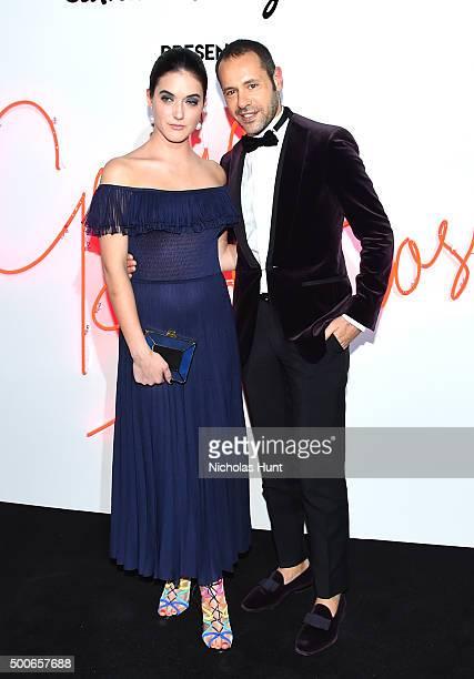 Alaia Baldwin and Massimiliano Giornetti attend Ferragamo Presents Gancio Studios Celebrating 100 Years In Hollywood at Gancio Studios on December 8...