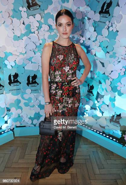 Alaia Baldwin attends as Tiffany Co celebrates the launch of the Tiffany Paper Flower collection at The Lindley Hall on June 21 2018 in London England