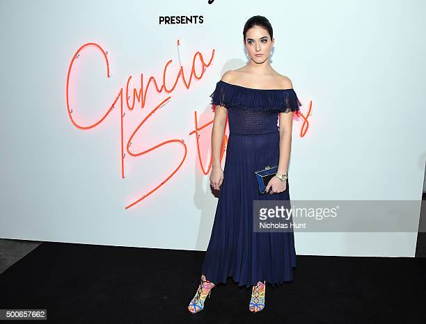 Alaia Baldwin attends Ferragamo Presents Gancio Studios Celebrating 100 Years In Hollywood at Gancio Studios on December 8 2015 in New York City