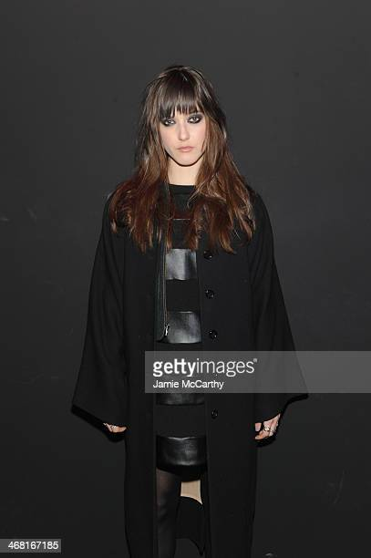 Alaia Baldwin attends the Brian Lichtenberg fashion show at The Hub at The Hudson Hotel on February 9 2014 in New York City