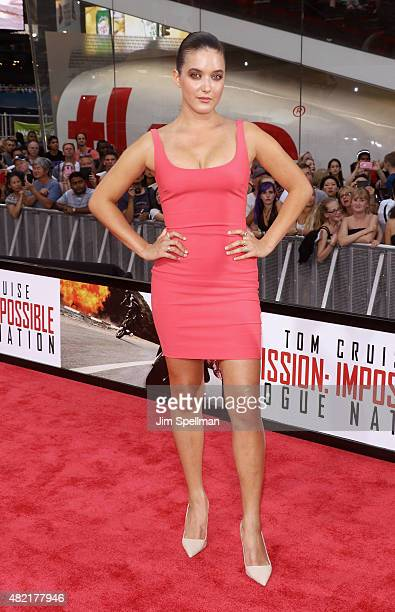 Alaia Baldwin attends the 'Mission Impossible Rogue Nation' New York premiere at Times Square on July 27 2015 in New York City