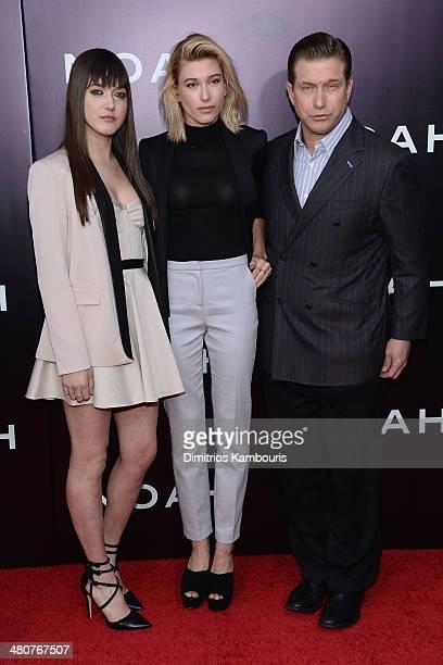 Alaia Baldwin Hailey Baldwin and Stephen Baldwin attend the 'Noah' New York premiere at Ziegfeld Theatre on March 26 2014 in New York City