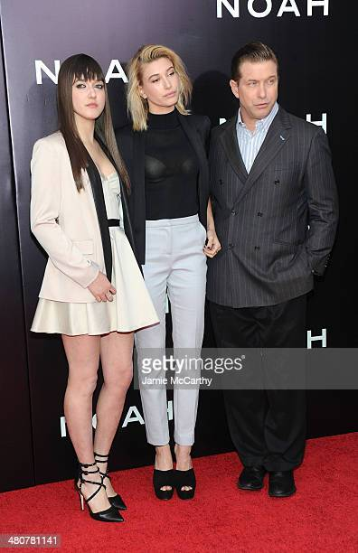 Alaia Baldwin Hailey Baldwin and Stephen Baldwin attend the 'Noah' New York premiere at Ziegfeld Theatre on March 26 2014 in New York City
