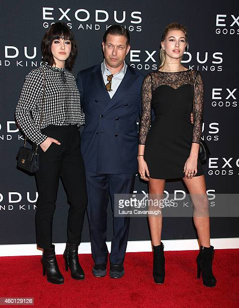 Alaia Baldwin Stephen Baldwin and Hailey Baldwin attend the 'Exodus Gods And Kings' New York Premiere at Brooklyn Museum on December 7 2014 in New...