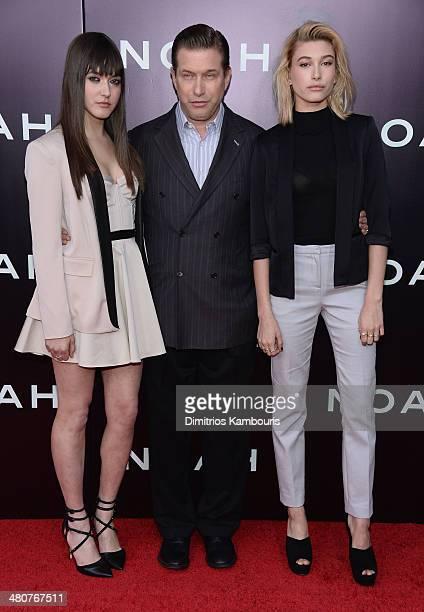 Alaia Baldwin Stephen Baldwin and Hailey Baldwin attend the 'Noah' New York premiere at Ziegfeld Theatre on March 26 2014 in New York City