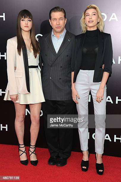 Alaia Baldwin Stephen Baldwin and Hailey Baldwin attend the 'Noah' New York premiere at Ziegfeld Theatre on March 26 2014 in New York City