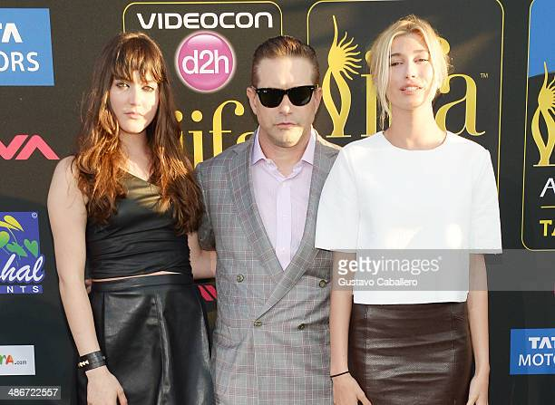Alaia Baldwin Stephen Baldwin and Hailey Rhode Baldwin arrive to the IIFA Magic of the Movies at MIDFLORIDA Credit Union Amphitheatre on April 25...