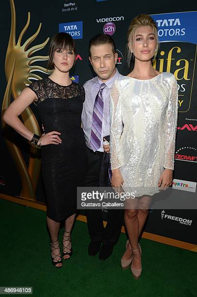 Alaia Baldwin Stephen Baldwin and Hailey Rhode Baldwin arrive to the IIFA Awards at Raymond James Stadium on April 26 2014 in Tampa Florida