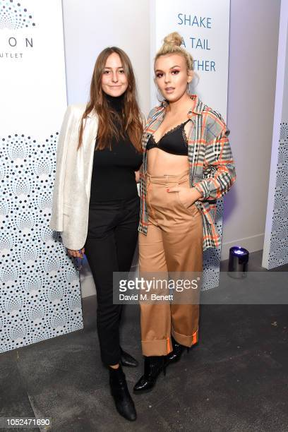 Alaia Obadash and Talia Storm attend the opening of The O2's new shopping destination ICON Outlet on October 18 2018 in London England