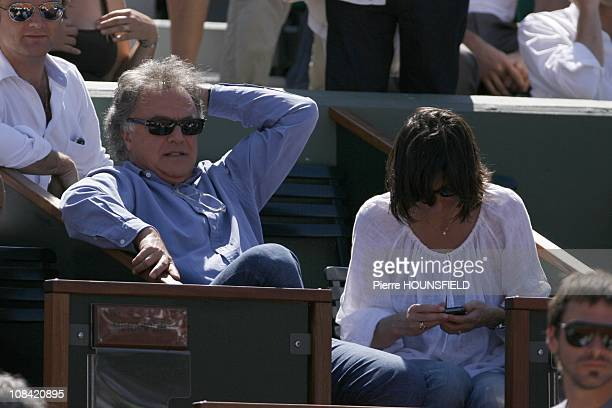 Alain Afflelou and his girlfriend in Paris France on May 30 2009