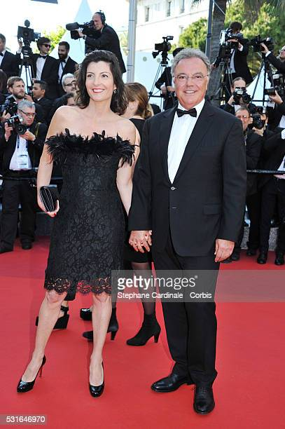 Alain Afflelou and his wife attend the 'From The Land Of The Moon ' premiere during the 69th annual Cannes Film Festival at the Palais des Festivals...