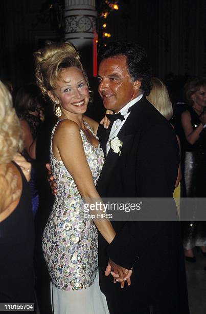 Alain Afflelou and wife in Biarritz France on August 21 1993