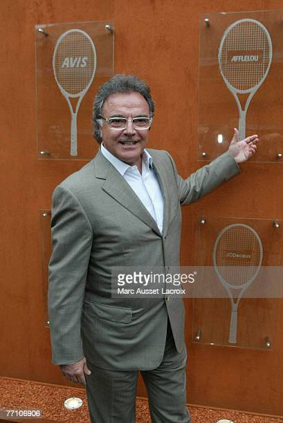 Alain Afflelou arrives in the 'Village' the VIP area of the French Open at Roland Garros arena in Paris France on June 7 2007