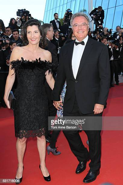 Alain Afflelou attends a screening of 'From The Land And The Moon ' at the annual 69th Cannes Film Festival at Palais des Festivals on May 15 2016 in...