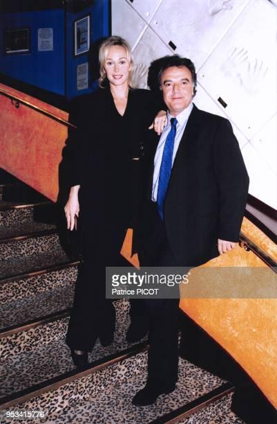 Alain Afflelou et sa femme Alexandra Lorska dans les années 90 à Paris France Circa 1990