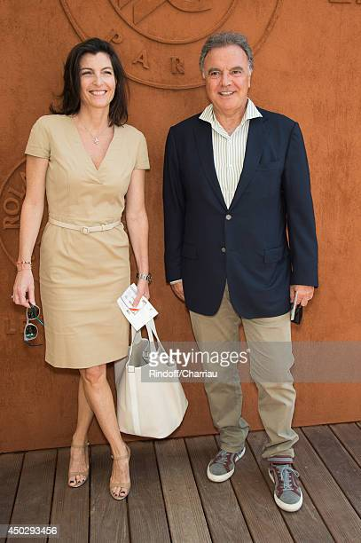 Alain Afflelou with his wife Christine Afflelou attend the Men's Final of Roland Garros French Tennis Open 2014 Day 15 at Roland Garros on June 8...