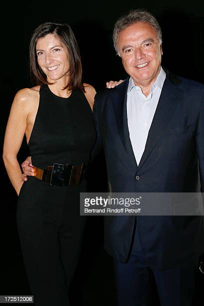 Alain Afflelou with his wife Christine Afflelou attend the Stephane Rolland show as part of Paris Fashion Week HauteCouture Fall/Winter 20132014 at...