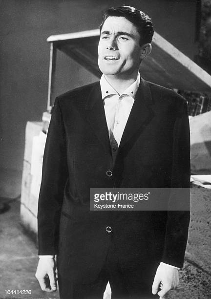 Alain BARRIERE singing a song he wrote himself ELLE ETAIT SI JOLIE which he was to present at the Grand Prix de l'Eurovision on March 23 1963