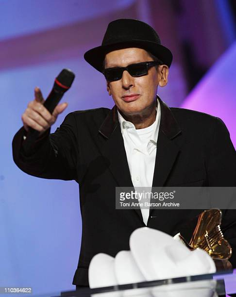 Alain Bashung speaks on stage during the Les Victoires de la Musique at the Le Zenith on February 28 2009 in Paris France