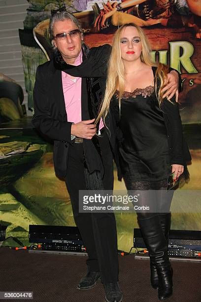 "Alain Bashung with date attend the premiere of the film ""Arthur et les Minimoys"" held in Paris."