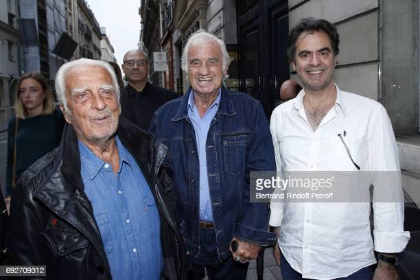 Alain Belmondo JeanPaul Belmondo and Olivier Belmondo attend 'L'Entree Des Artistes' Theater School by Olivier Belmondo at Theatre des Mathurins on...