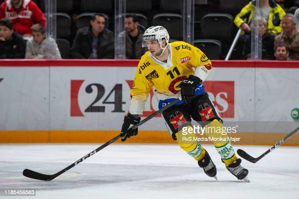 Alain Berger of SC Bern in action during the Swiss National League game between Lausanne HC and SC Bern at Vaudoise Arena on November 1, 2019 in...