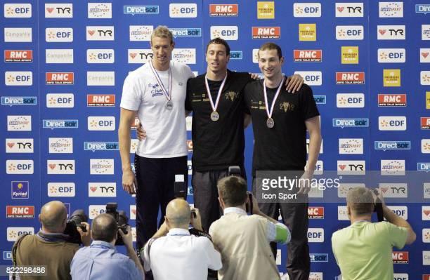 Alain BERNARD / Frederick BOUSQUET / William MEYNARD finale 100 metres nage libre Championnat de France Piscine Antigone Montpellier