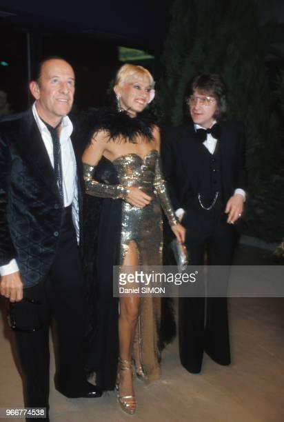 Alain Bernardin et Lova Moor au Crazy Horse le 24 juin 1985, Paris, France.